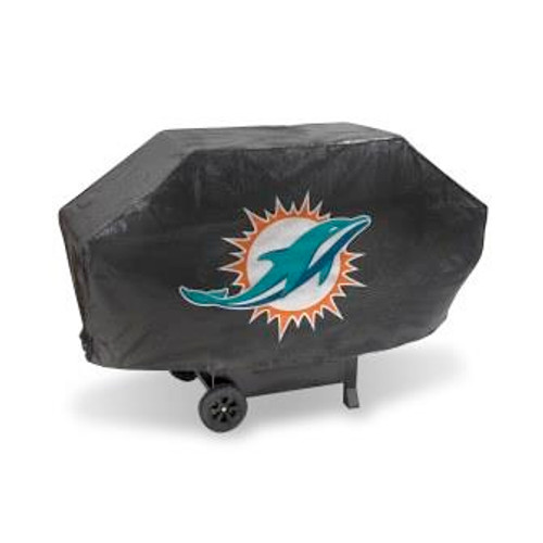 Miami Dolphins Black Deluxe Grill Cover