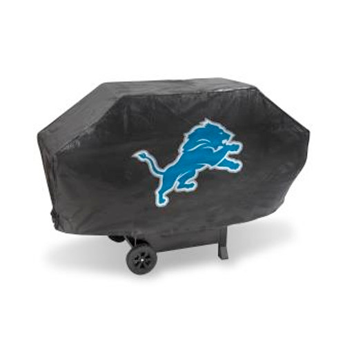 Detroit Lions Black Deluxe Grill Cover
