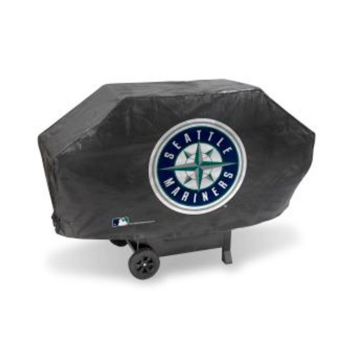 Seattle Mariners Black Deluxe Grill Cover
