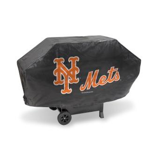 New York Mets Black Deluxe Grill Cover