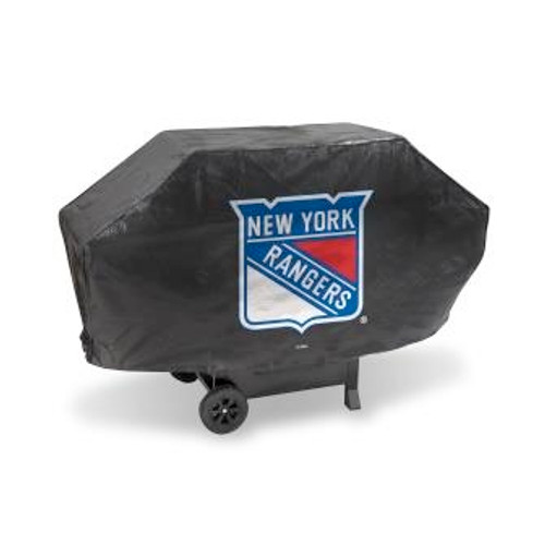 New York Rangers Black Deluxe Grill Cover