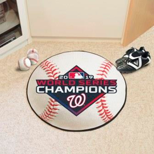 Washington Nationals 2019 World Series Champions Baseball Mat