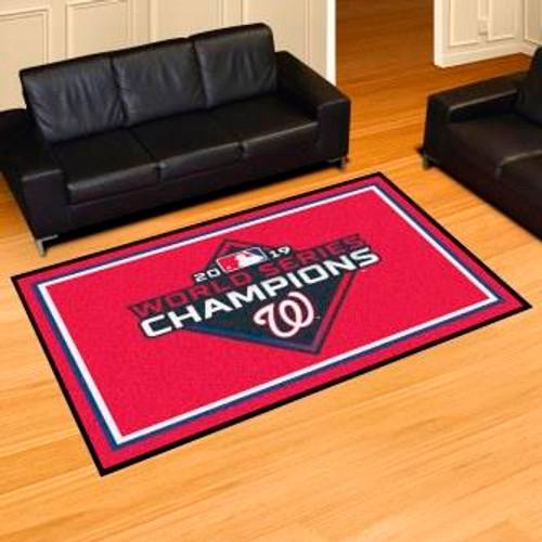 Washington Nationals 2019 World Series Champions 5x8 Rug