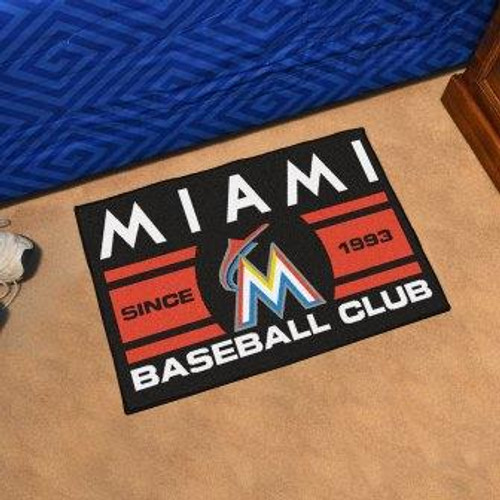 Miami Marlins Baseball Club Starter Mat