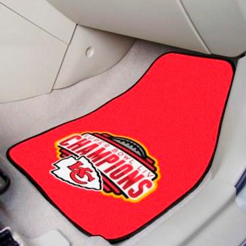 Kansas City Chiefs Super Bowl LIV Carpet Car Mat Set