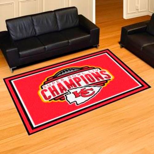 Kansas City Chiefs Super Bowl LIV 5x8 Rug