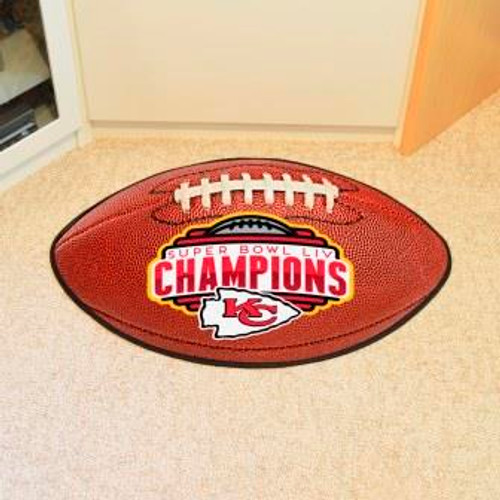 Kansas City Chiefs Super Bowl LIV Football Mat