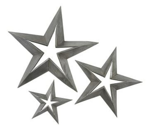 Antique Tin Stars Set of 3