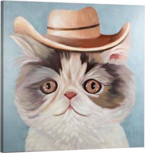 Carl The Cat 32x32 Canvas Art