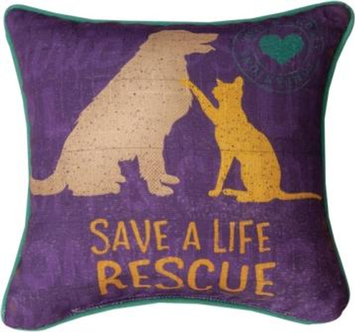 Rescued Save A Life 12 x 12 Pillow