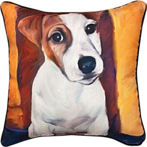 Baby Jack Jack Russell 18 x 18 Pillow