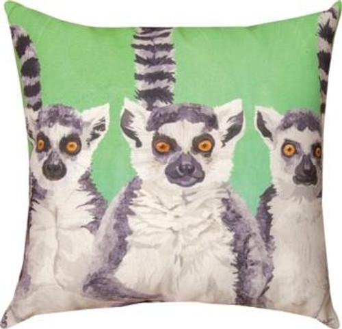 3 Amigos Lemurs Pillow
