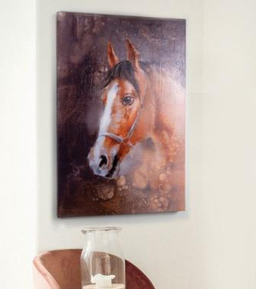 Horse Painted Canvas Art