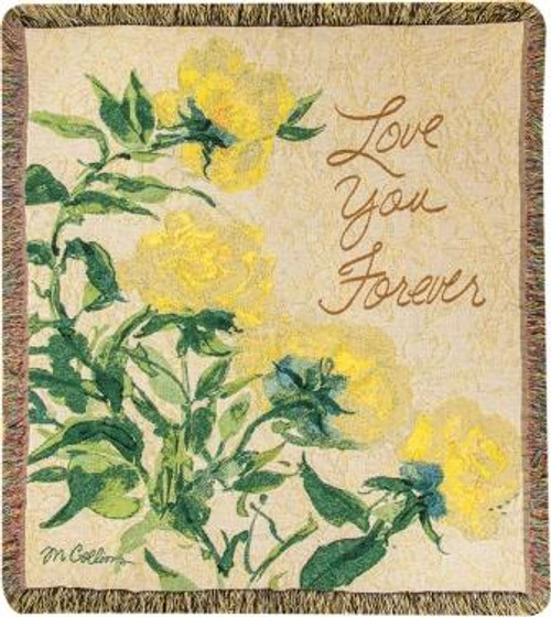 Love You Forever Tapestry Throw