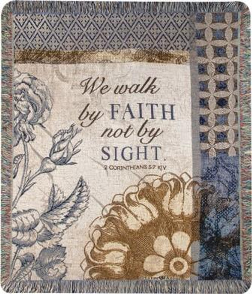 We Walk By Faith Tapestry Throw