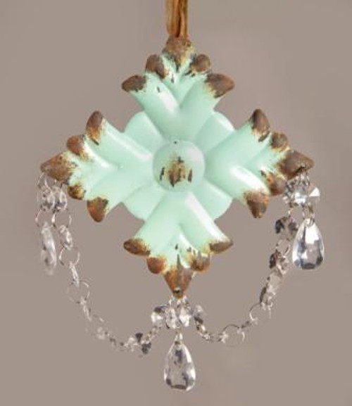 Floral Dangle Turquoise Ornament