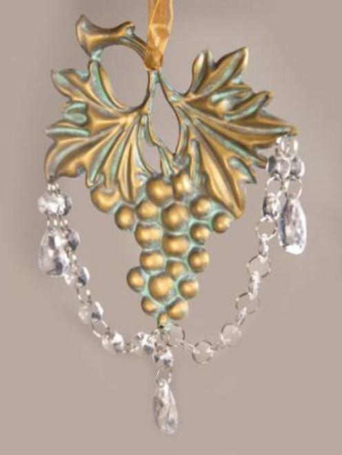 Grapes Dangle Bronze Ornament