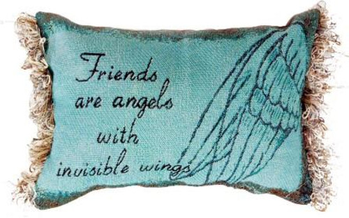 Friends Are Angels Pillow Set of 2