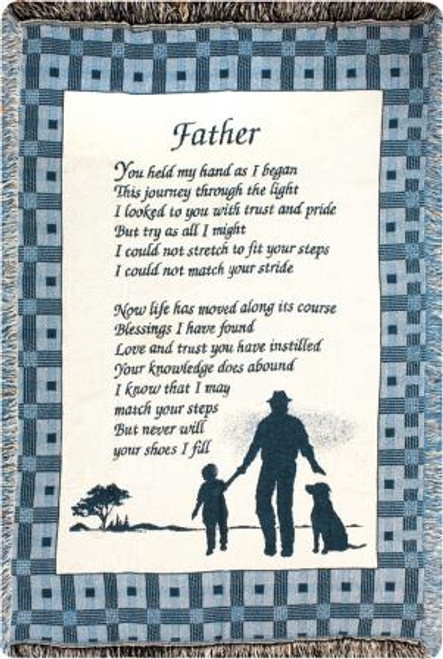 Father You Held My Hand Tapestry Throw