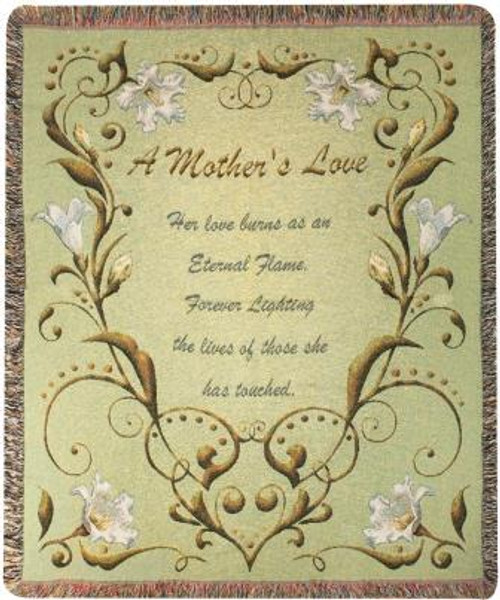 A Mothers Love Tapestry Throw