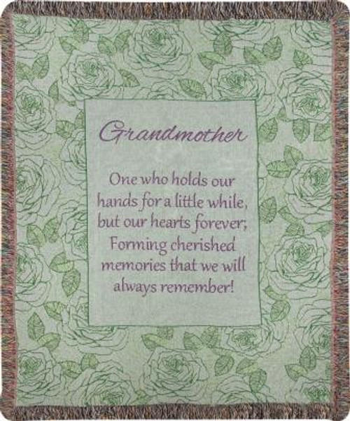 Grandmother Holds Our Hands Tapestry Throw