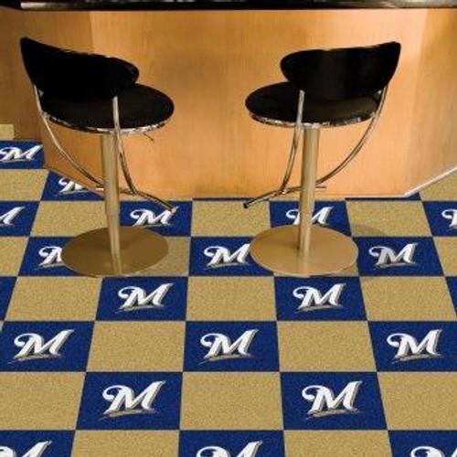 Milwaukee Brewers Team Carpet Tiles