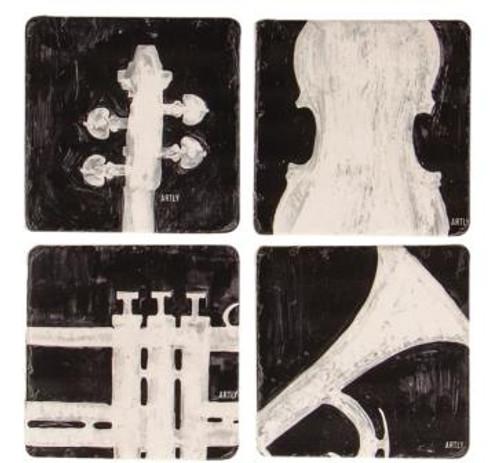 Music Coasters Set of 4