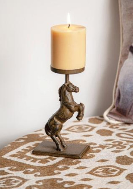 Horse Metal Candle Holder