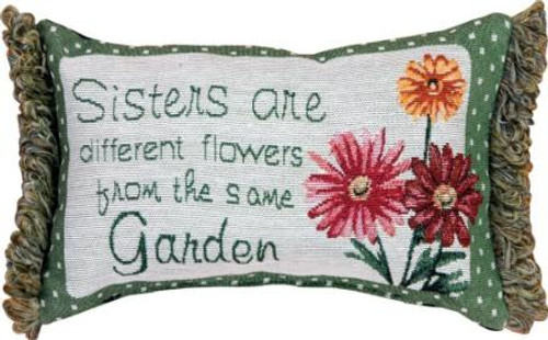 Sisters...From Same Garden 12.5 x 8 Pillow