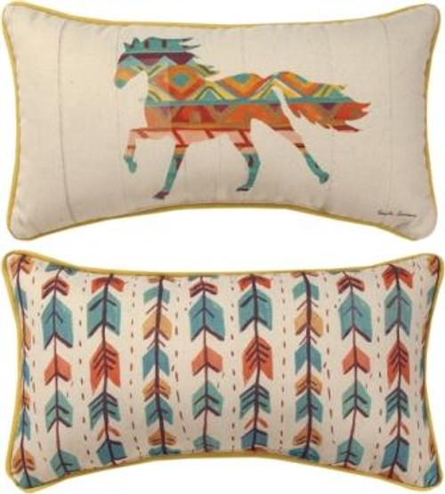 Southwestern Vibes 17 x 9 Horse Pillow