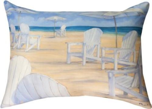 Blanco Beach Chair 18 x 13 Pillow