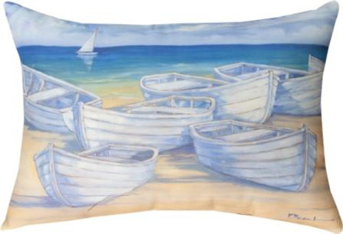 Blanco Beach Boat 18 x 13 Pillow
