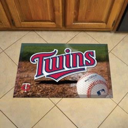 Minnesota Twins Baseball Scraper Mat