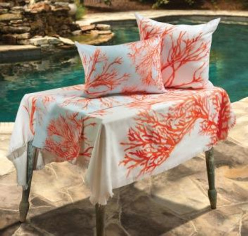 Red Coral Poly Table Topper