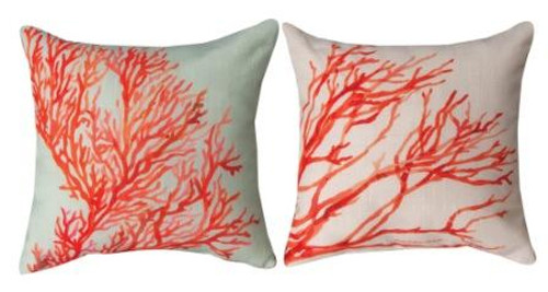 Red Coral 12 x 12 Pillow