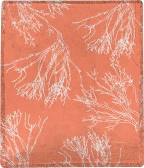 Red Coral Poly Throw