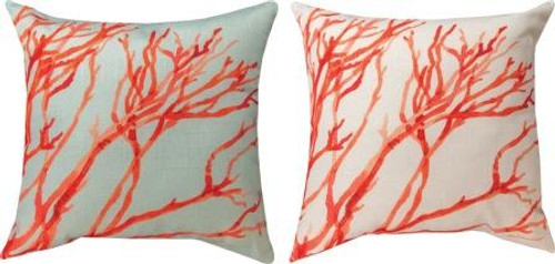 Red Coral 18 x 18 Pillow