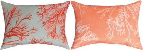 Red Coral 18 x 13 Pillow