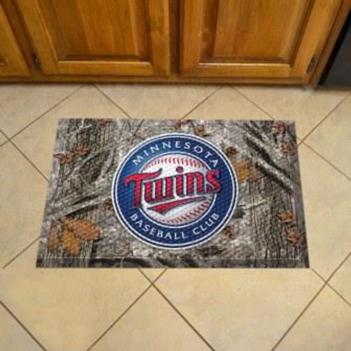 Minnesota Twins Camo Scraper Mat