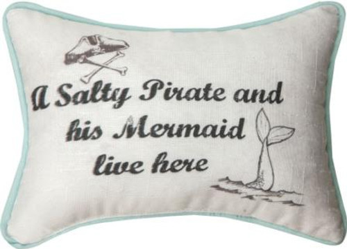A Salty Pirate Lives Here... 12.5 x 8 Pillow