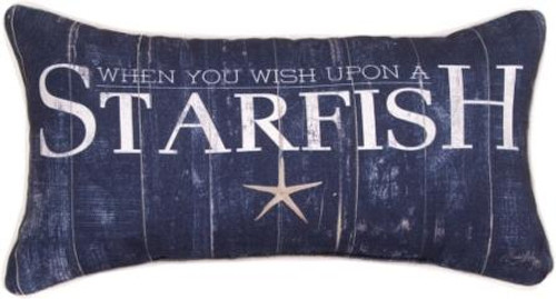 When You Wish Upon A Starfish 17 x 9 Pillow