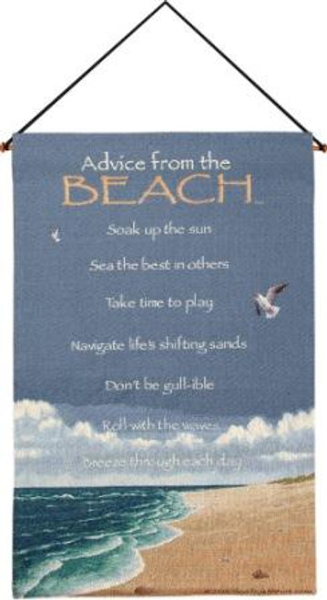 Advice From The Beach Wall Hanging