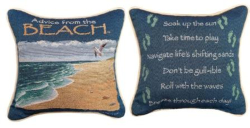 Advice From The Beach 12 x 12 Pillow