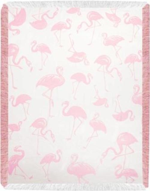 Pink Flamingo Toss Rayon Throw