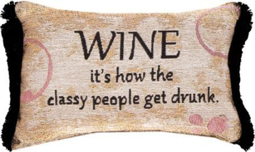 Wine...People Get Drunk 12.5 x 8 Pillow