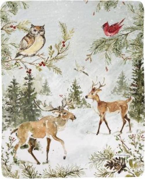 Snowy Forest 50 x 60 Fleece Throw