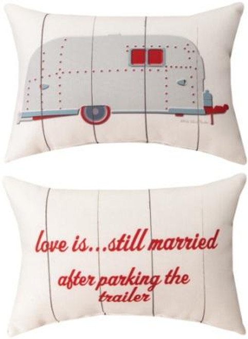Love Is...Married 12.5 x 8.5 Pillow