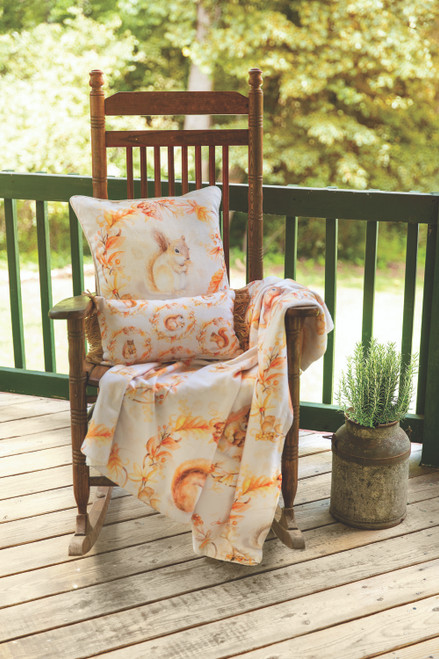 Squirrels And Acorns 50 x 60 Sherpa Throw