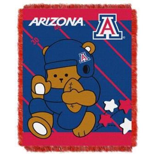 Arizona Wildcats Fullback Baby Woven Jacquard Throw
