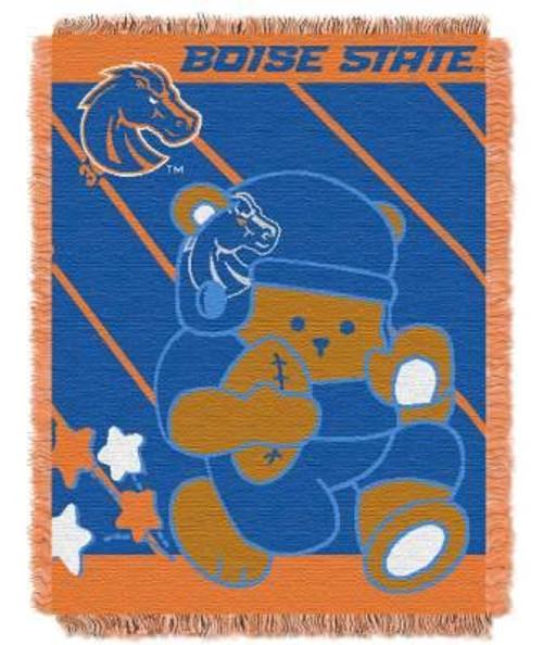 Boise State Broncos Fullback Baby Woven Jacquard Throw